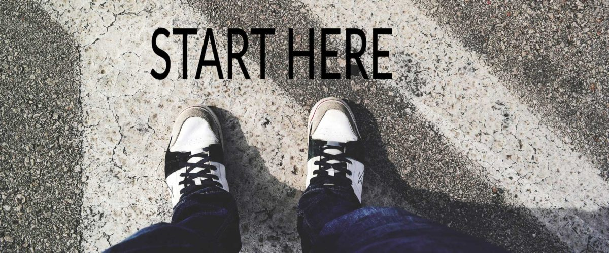 start here two feet on ground