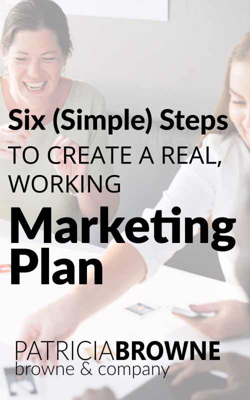 six simple steps marketing plan Pintersest